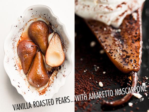 Vanilla Roasted Pears with Amaretto Mascarpone | Minimally Invasive