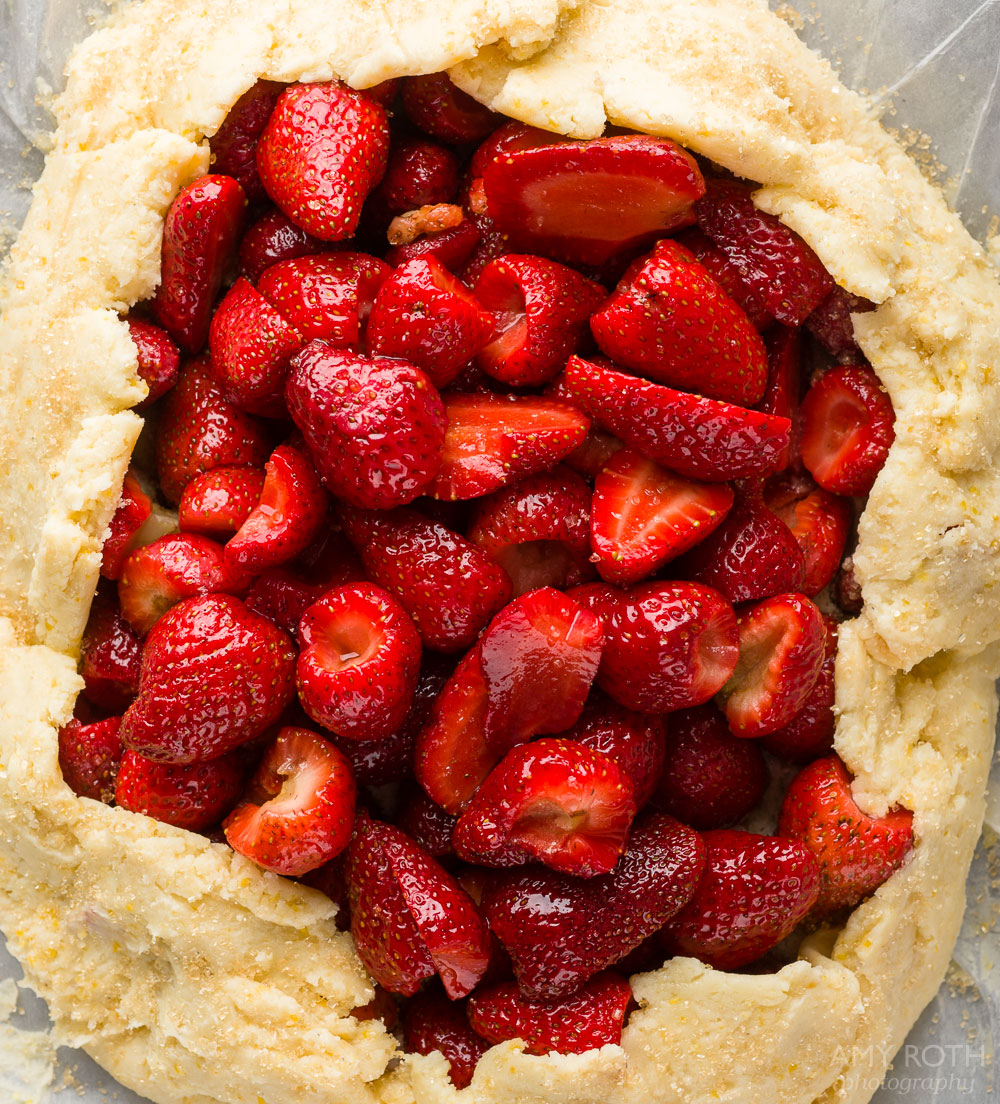 almond macaroon galette with almond macaroon galette with strawberries ...