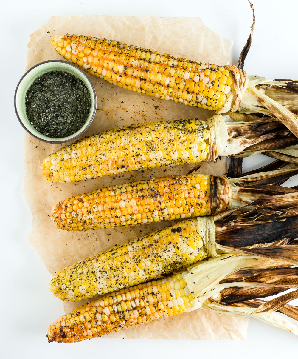 Grilled Corn with Miso & Gochujang Butters | Minimally Invasive
