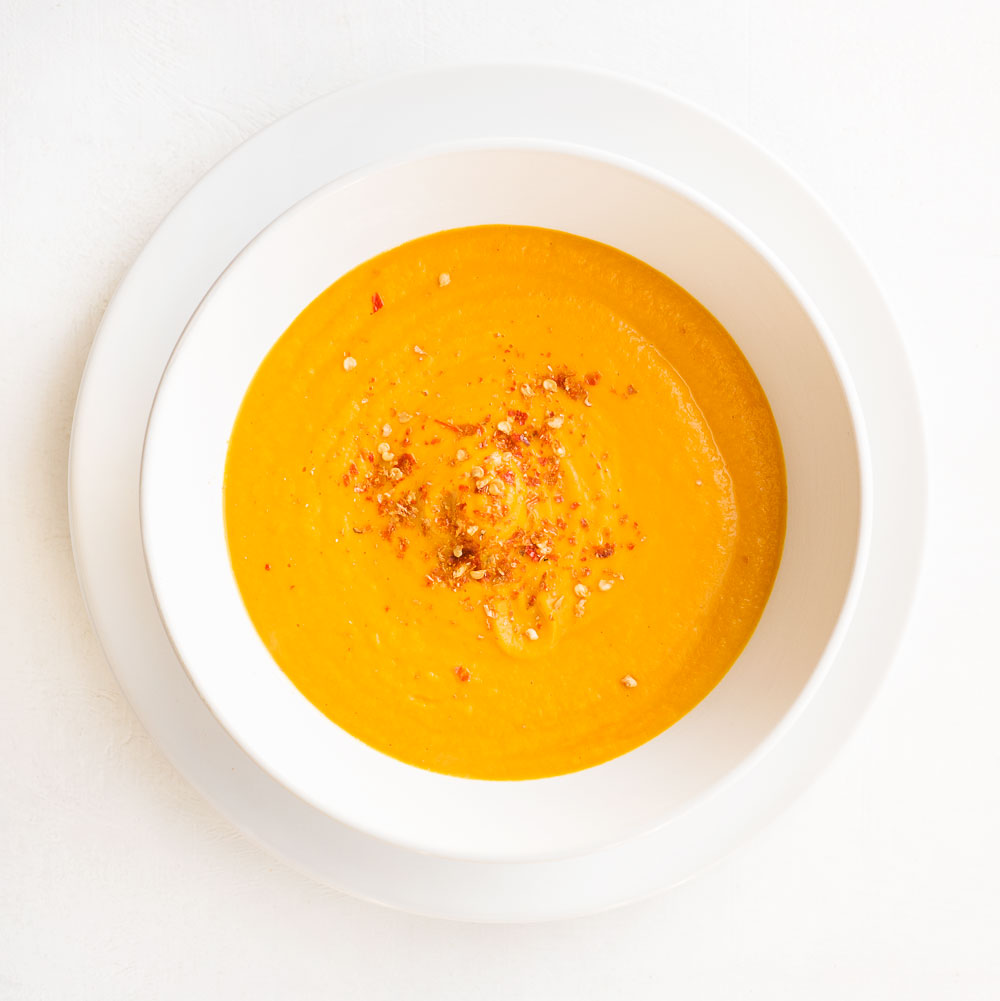 Roasted Carrot Soup | Amy Roth Photo