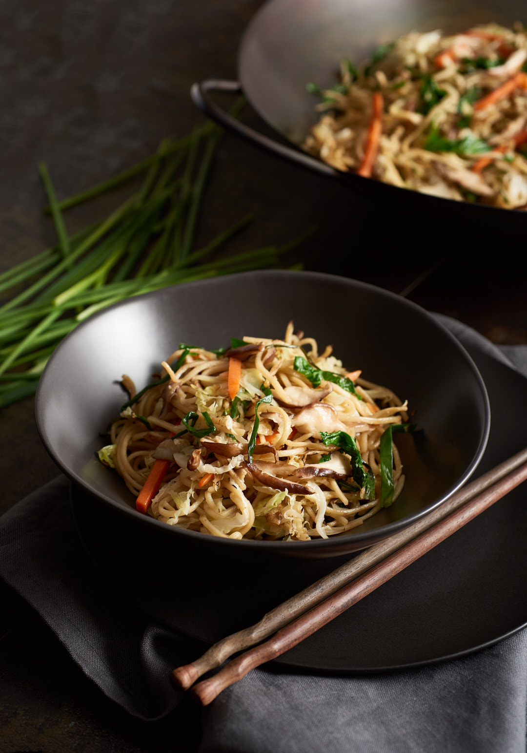 Lo Mein Noodles | Amy Roth Photo