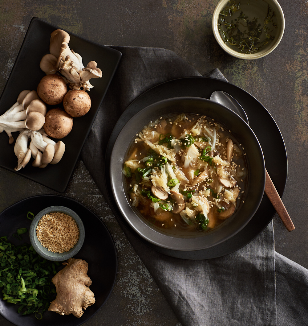Mushroom Miso Soup | Amy Roth Photo