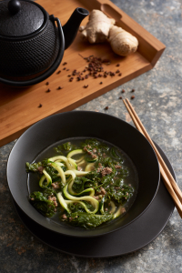 Beef & Mustard Greens Soup - Amy Roth Photo