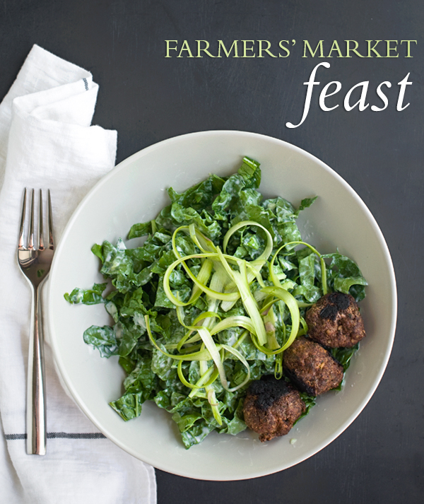 Kofta with Spinach &amp; Arugula Salad