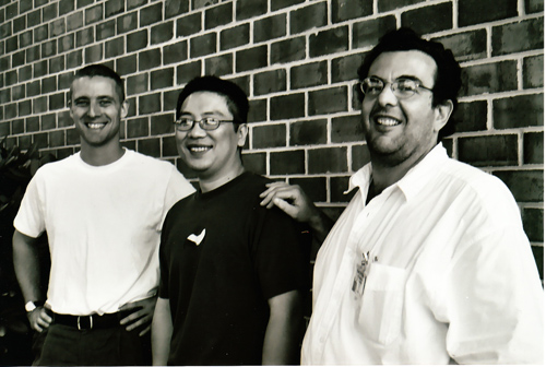 Left to right: Me, Sang Lee and Paul Di Filippo